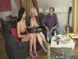 BF Finds His Nasty GF Having A Threesome Sex With His Parents
