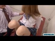 Asian schoolgirl finger fucked until she  ...