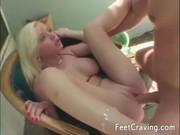 Hot girls in amazing foot fetish video