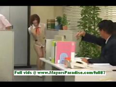 Azusa Itagaki Hot Asian Babe At Work