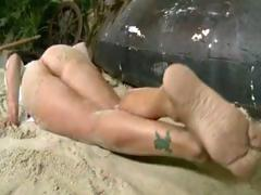 Massive Tits Milf Claudia Valentine Laid On The Sand And Get Fucked In The Ass