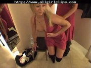 Public Lesbians In Restroom And Changing  ...