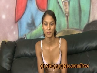 Amateur Ebony Teen Gives Deepthroat Blowjob