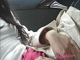Using a dildo during a taxi ride (100%real...)