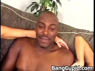 Hard interracial threesome