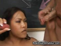 Slutty Asian Takes Two Dick In Her Mouth Part1