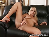 Young nasty blonde drilled hard and creampied