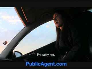 PublicAgent Amateur Brunette Anal Sex Outdoors