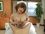 Jav Sexy tight tits of playful Nurse