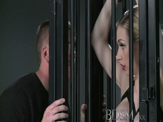 BDSM XXX Big Breasted Blonde Gets A Hardcore Lesson Inside And Outside Of Her Cage
