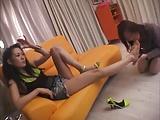 lesbian asian foot slave