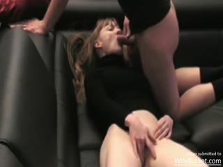 Horny Hubbie Mouthfucking His Sexy Wife