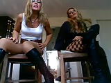 2 german Milfs  humilate you  POV