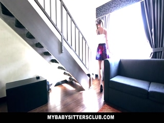 Mybabysitters Cute Babysitter Fucks Dad