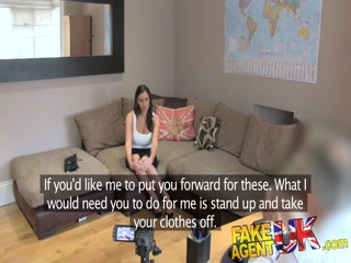 FakeAgentUK Creampie For Romanian Babe Fucked Over Desk In Casting