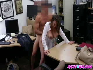 Cutie babe getting her pussy fucked by a big dick