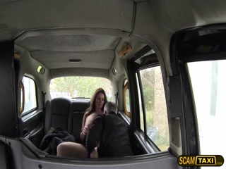 Wild and sexy woman in hot outdoor sex with the pervy driver