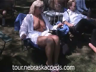 Nudist Colony Festival With Teens And Matures Dancing