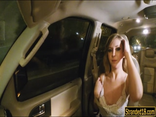 Kelly Greene fucked at the back of a car