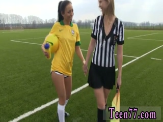 Brazilian player smashing the referee