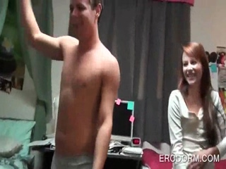 College girl stripped and fucked in dorm room