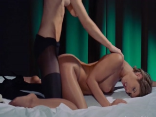 Huge dildo in their hands trying first lesbians havingsex 6