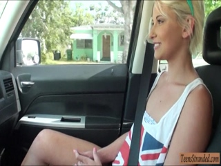 Cutie Dani Desire nailed in the backseat