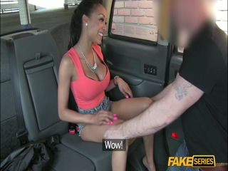 Bitchy Ebony Brit fucks a driver hard