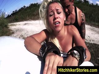 HelplessTeens Jade Jantzen endures domination and outdoor rope bondage 3