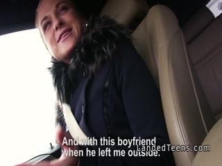Teen hitchhiker bangs stranger in public
