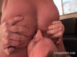 Cougars giving anilingus and fucking shaft