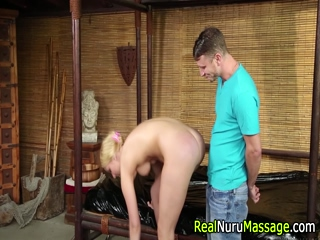 Doggystyle masseuse fuck