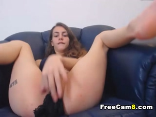 Horny Teen in a Hard Throat Fucking