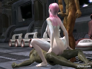 Sexy elf double penetrated by monsters