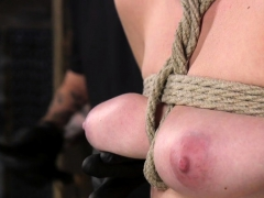 Blonde In Suspension Bondage Squirting
