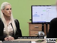 Huge Boobs Milf Blonde Really Needs A Business Loan