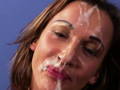 Foxy Peach Gets Cum Load On Her Face Gulping All The Jizz78z