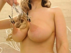 Amateur Blonde Camgirl With Natural Big Tits On Webcam