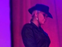 Public Flexi Lesbian Milf Show