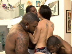 Kinky Woman Dped By Massive Black Cocks In Many Poses