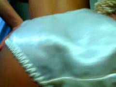 White Satin Panties In Your Face