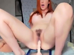 Beautiful Redhead Babe Puts On Webcam Show
