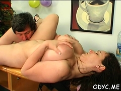 Sexy Old And Young Sex With Babe Jerking Off Old Chap