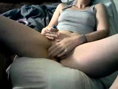 Cute Shaved Brunette Toys Her Pussy To Orgasm