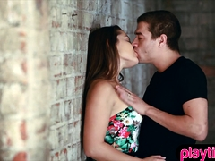 Fucking A Hot Brunette Slut In An Abandoned Warehouse