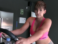 EXERCISE BIKE DILDO FUCK XXX