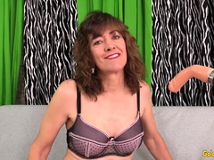 Older Slut Babe Morgan Vs Dildo Machine