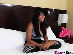 Oiled Tits Ebony Teen
