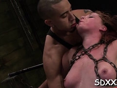 Roped Sweetheart Gets Soaked From A Bdsm Pleasant Session