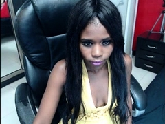 Ebony Girl Toying Herself On Webcam